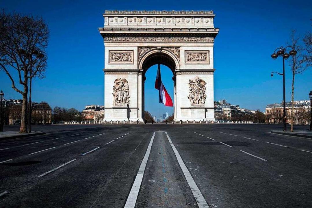 In Frankreich gilt die Ausgangssperre  | Foto: Joel Saget (dpa)