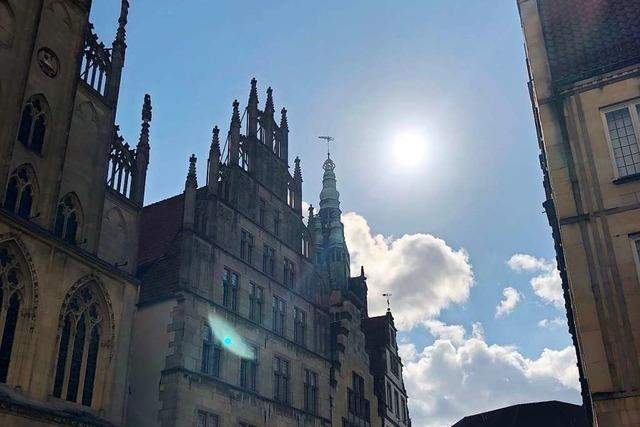 Ein letzter Moment Normalität in Münster