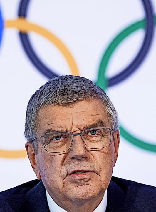 IOC-Präsident Thomas Bach  | Foto: Jean-Christophe Bott (dpa)