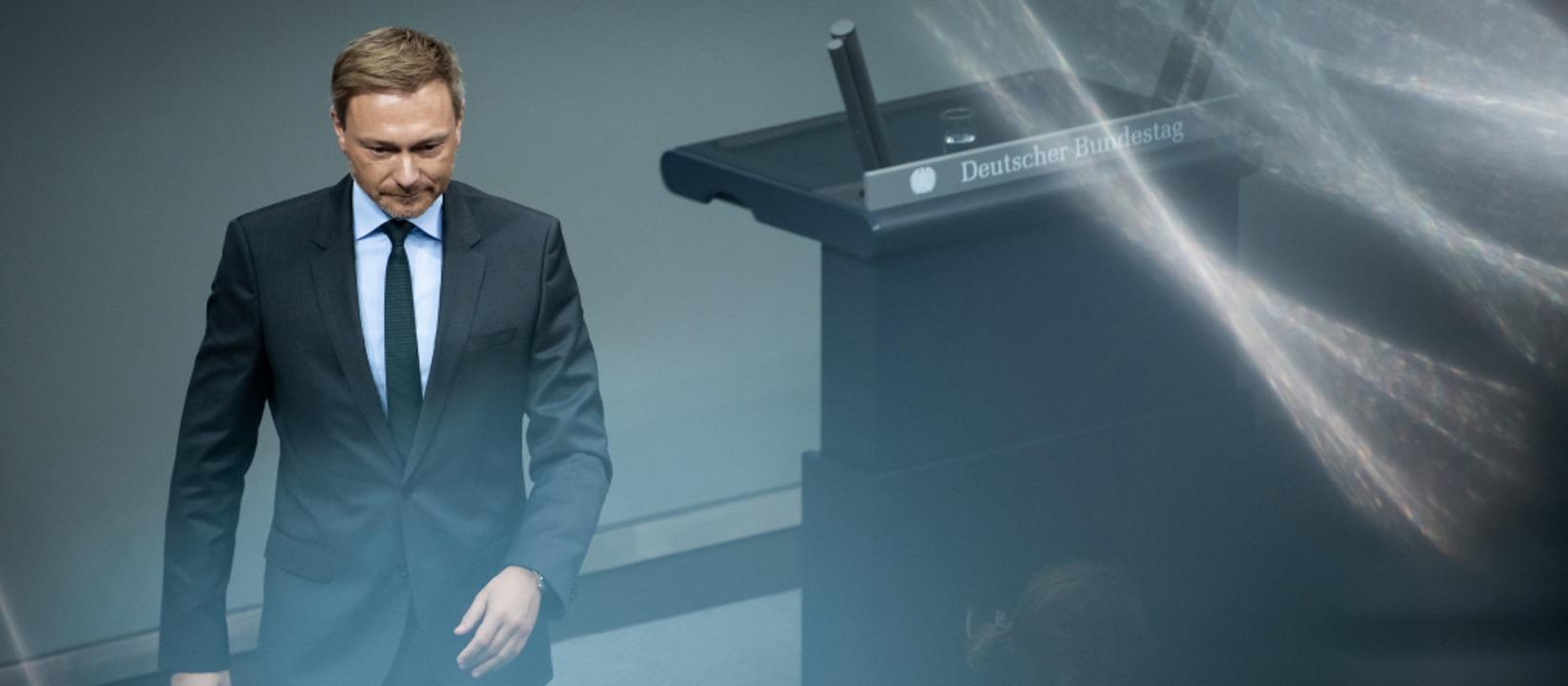FDP-Chef Christian Lindner vorige Woch...ie Opposition findet  kaum Beachtung.   | Foto: Bernd von Jutrczenka (dpa)