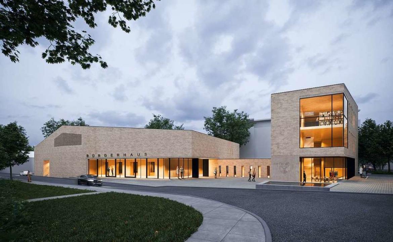 Nach derzeitigen Plänen sollen  Bürgerhaus (links) und Mediathek so aussehen.  | Foto: Fuchs-Maucher-Architekten