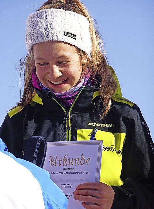 Für Leonie Maier war es trotz Schneema... Sie wurde nationale Schülermeisterin.    Foto: privat