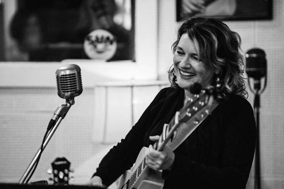 Lisa Mills in den Sun Studios in Memphis    Foto: Grant Andrew