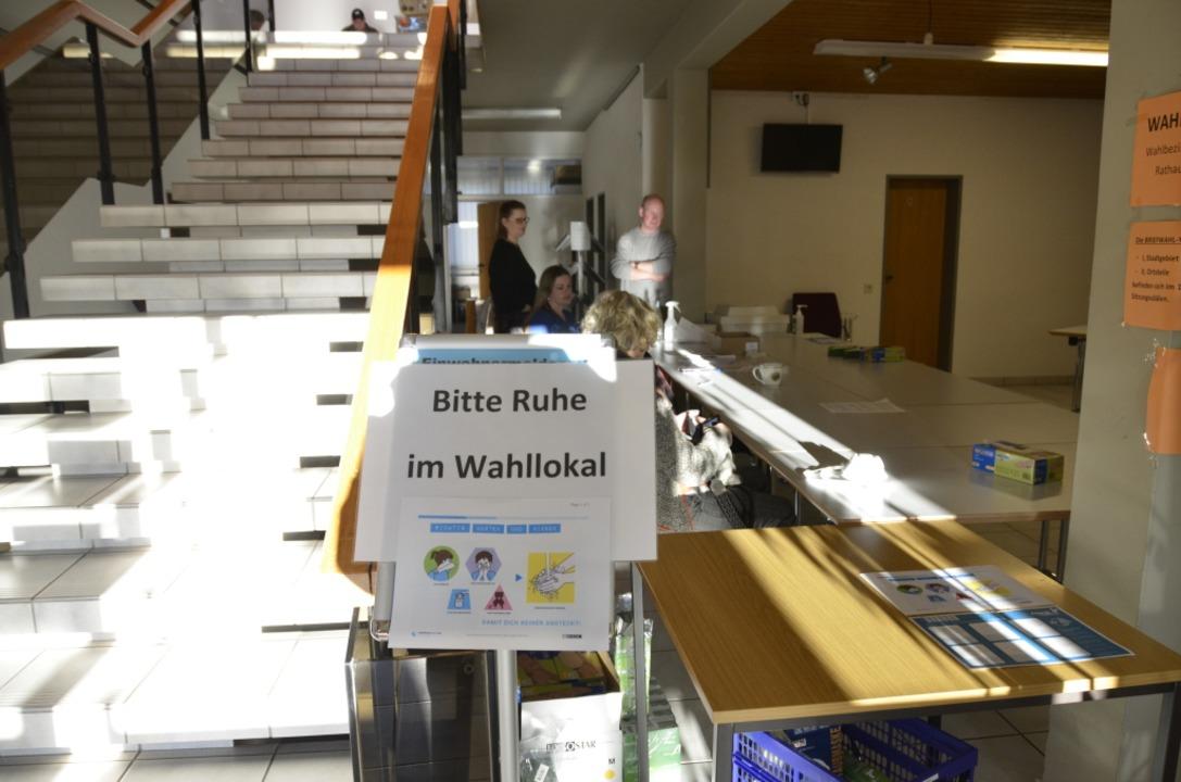 Die Corona-Krise bestimmte die Bürgermeisterwahl    Foto: Moritz Lehmann