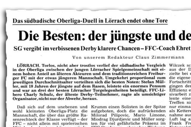 Gegen Streich & Co: Als die SG Lörrach-Stetten den Freiburger FC ärgerte