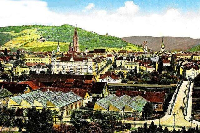 Vor 100 Jahren war der Blick über die Freiburger Innenstadt ein anderer