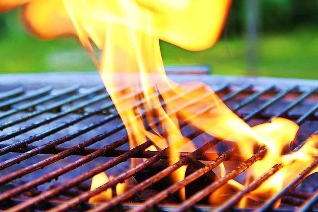 Brennender Grill löst in Inzlingen einen Feuerwehreinsatz aus