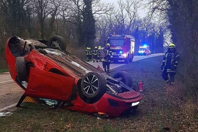 Verletzte bei Verkehrsunfall auf der L134 bei Grißheim