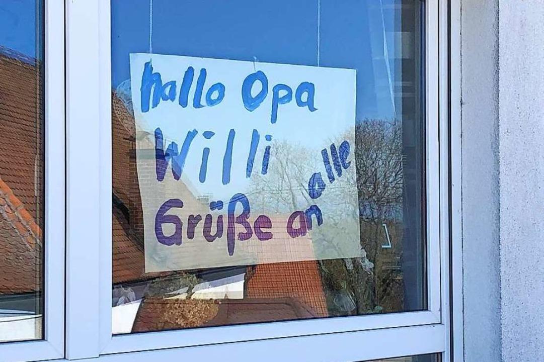 Die Grüße<ppp></ppp>  | Foto: Annika Kaldewey/Pflegeheim Schloss Rheinweiler