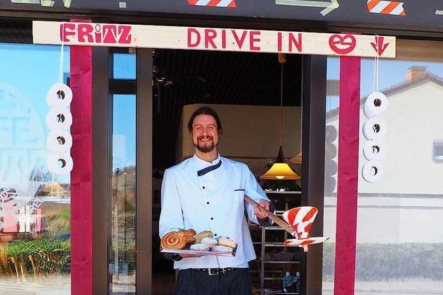 Der Weiler Simon Fritz hat einen Drive-in für seine Bäckerei gebaut