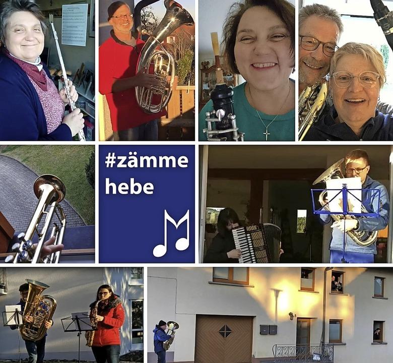 Auch Musikerinnen und Musiker der Stad...ch an der Flashmob-Aktion am Sonntag.   | Foto: Stadtmusik