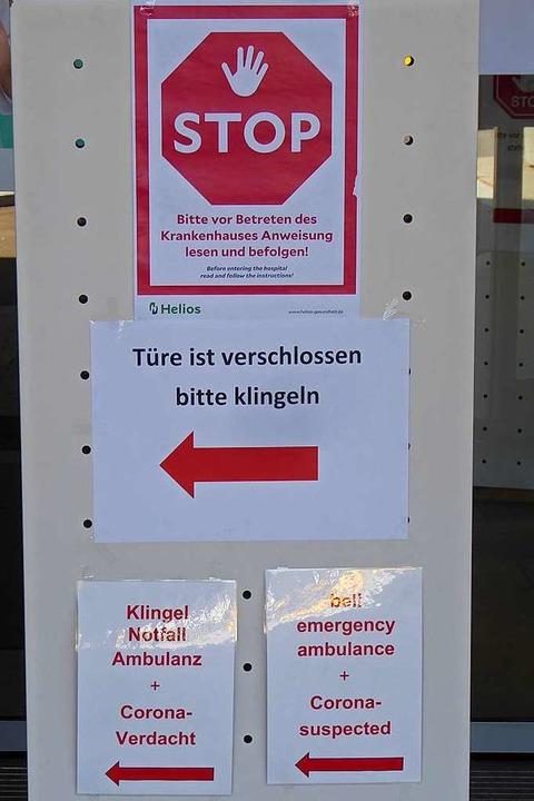 Klare Anweisungen am Eingang  | Foto: Peter Stellmach