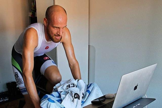 Wie Triathlet Marc Dülsen online sein erstes Saisonrennen fährt