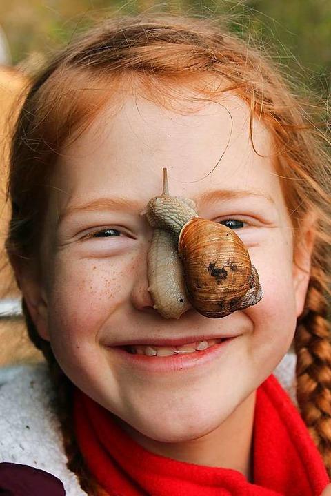 Den Schnecken hat die 11-jährige Ida S...ttbewerb der BUND-Jugend gewonnen hat.  | Foto: Spanke