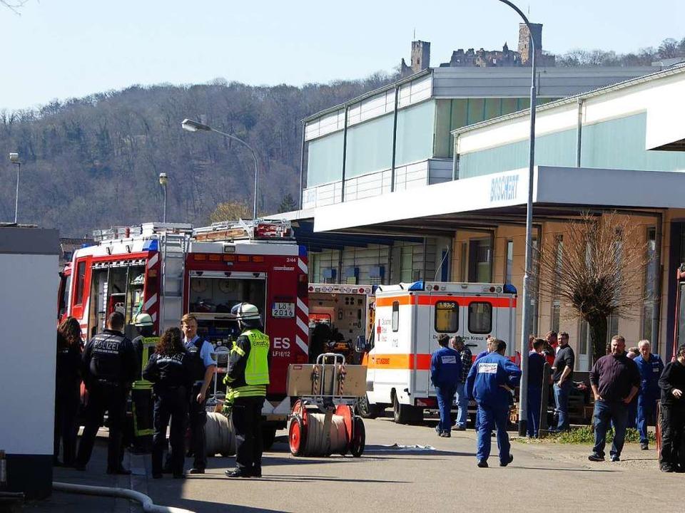 Einsatz für die Feuerwehr bei der Firma Boschert  | Foto: Sabine Ehrentreich