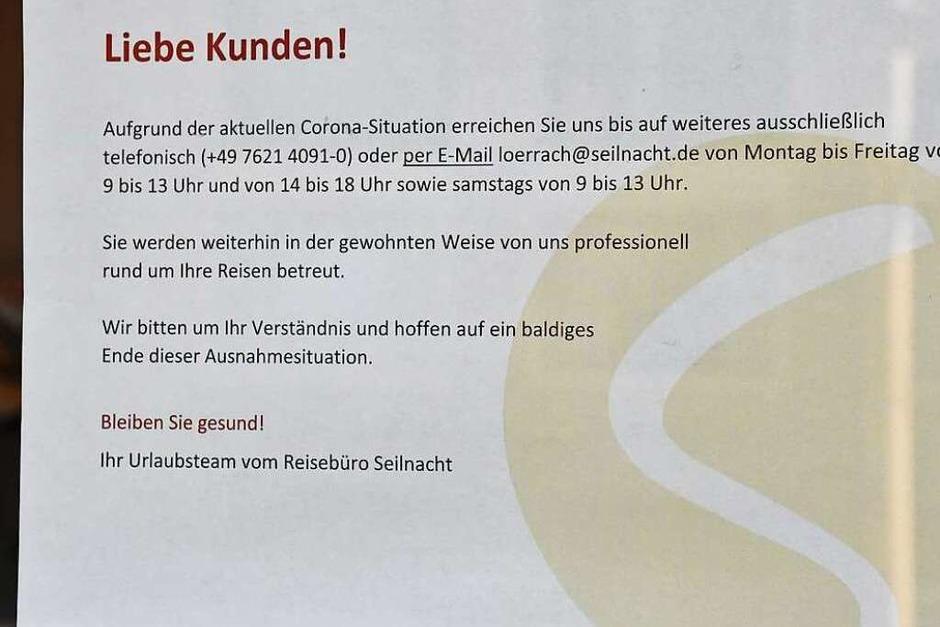 Reisebüro Seilnacht in der Basler Straße (Foto: Barbara Ruda)