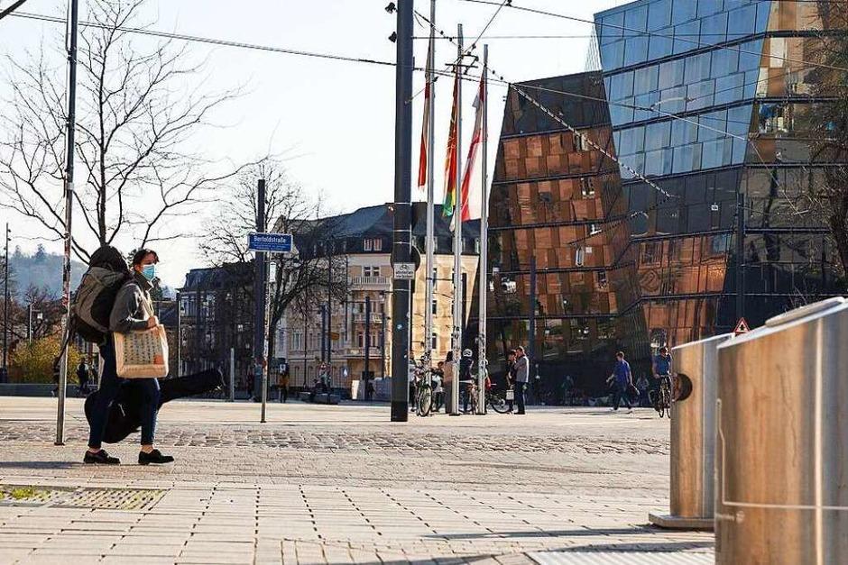 Der Fotograf David Lohmüller ist durch die Stadt gezogen und hat bekannte und weniger bekannte Ecken fotografiert: Freiburg in Zeiten von Corona. (Foto: David Lohmueller)