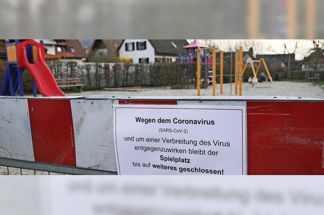 Spielplätze bleiben gesperrt