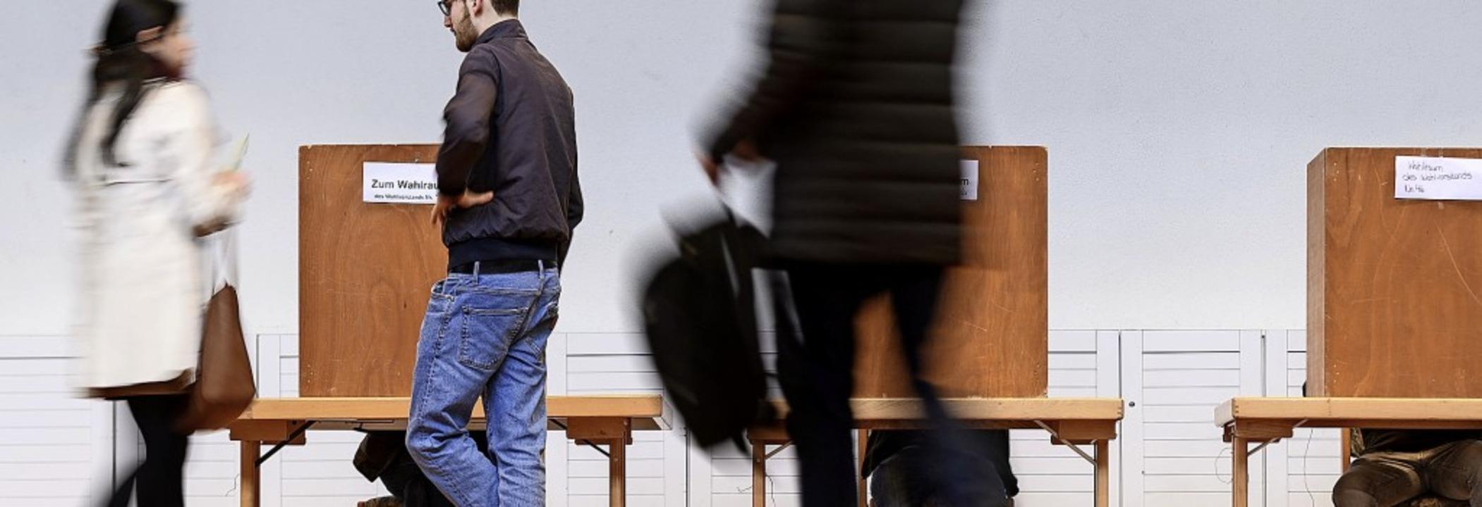 Mit Spannung wird in Herrischried erwa...am Freitag die Wahl absagt oder nicht.  | Foto: Daniel Peter (dpa)