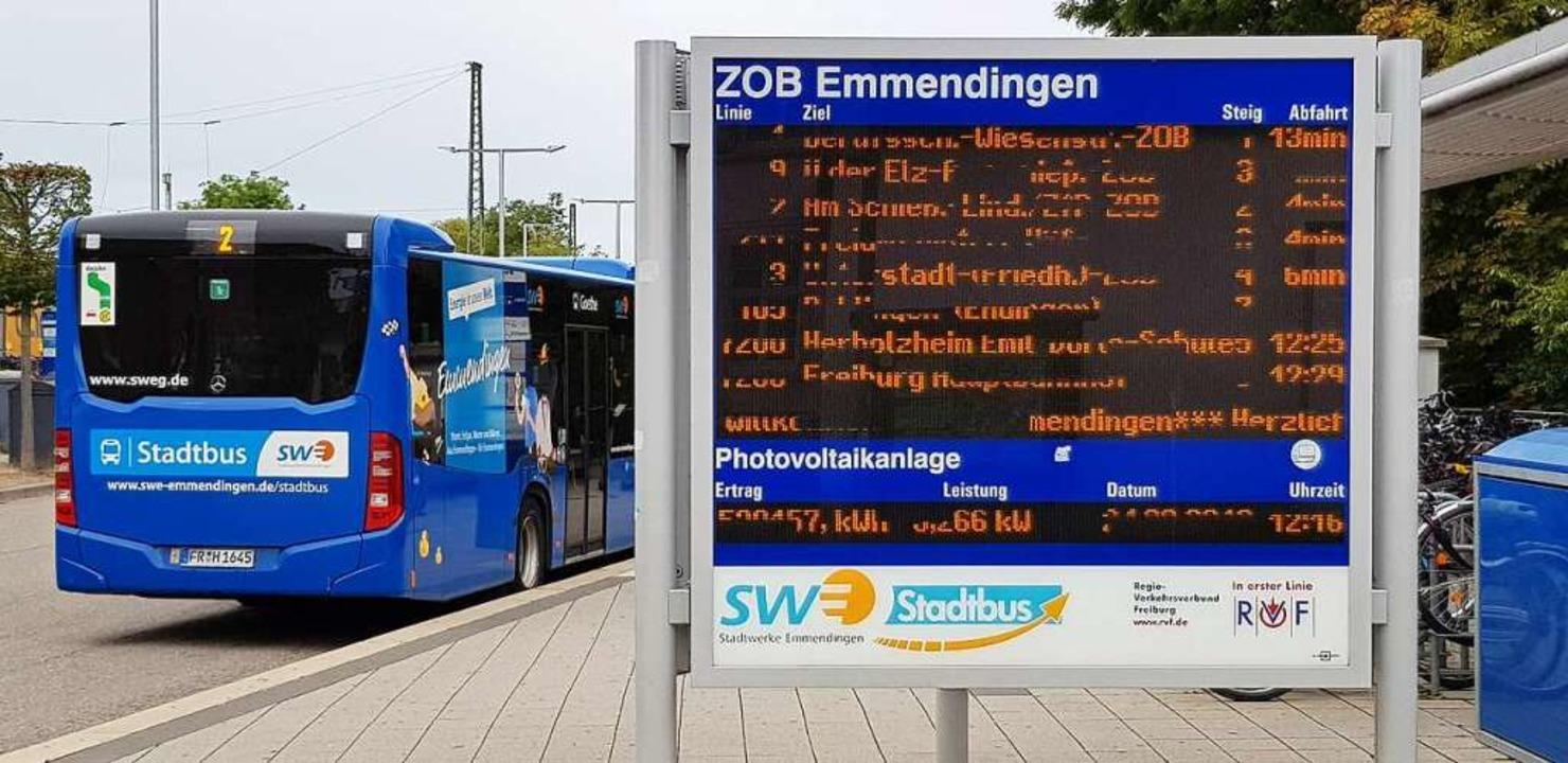 Auch die Stadtbusse sind von den Einschränkungen der Corona-Krise betroffen.  | Foto: Gerhard Walser