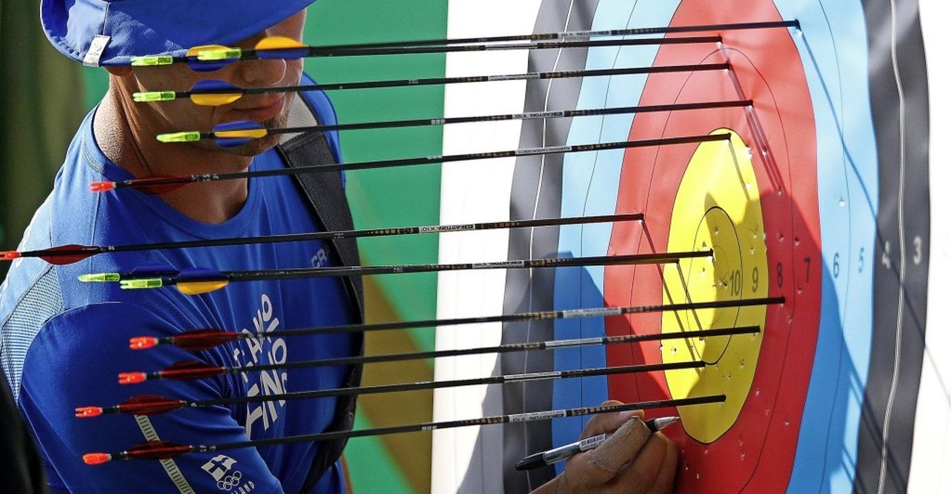 Bogenschießen gehört auch zu den Hobby...rn  bei den Olympischen Spielen 2016.   | Foto: Yoan Valat