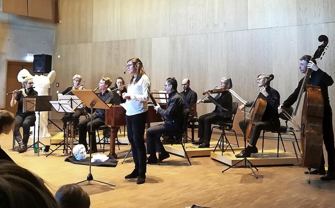 Beim Kinderkonzert des Freiburger Barockorchesters im Ensemblehaus     Foto: Privat