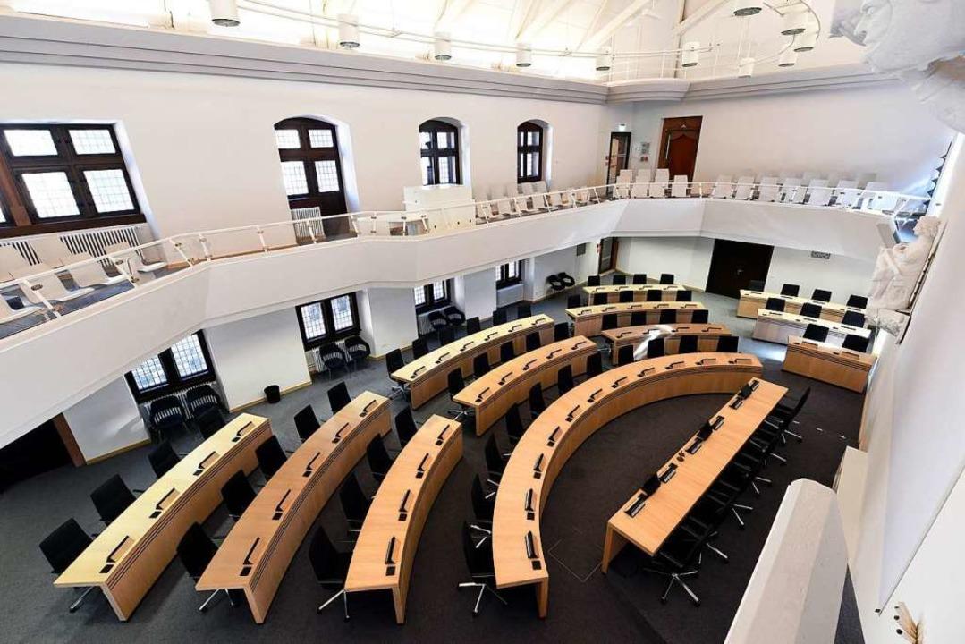 Der Ratssaal im Freiburger Rathaus.  | Foto: Thomas Kunz
