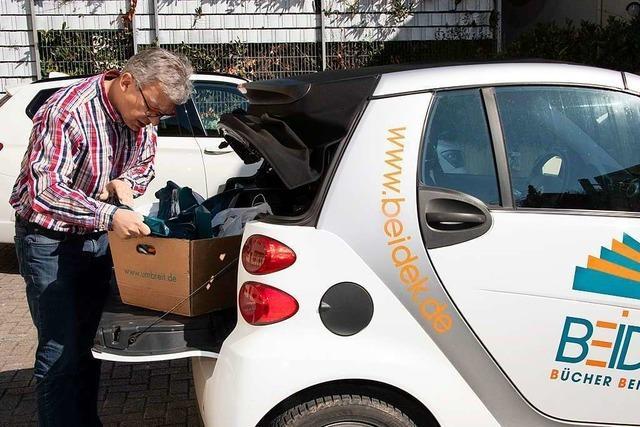 Blumen und Bücher werden in Müllheim nach Hause geliefert