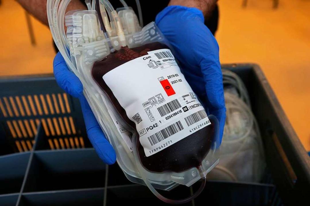Ein Blutbeutel  | Foto: Matthias Bein (dpa)
