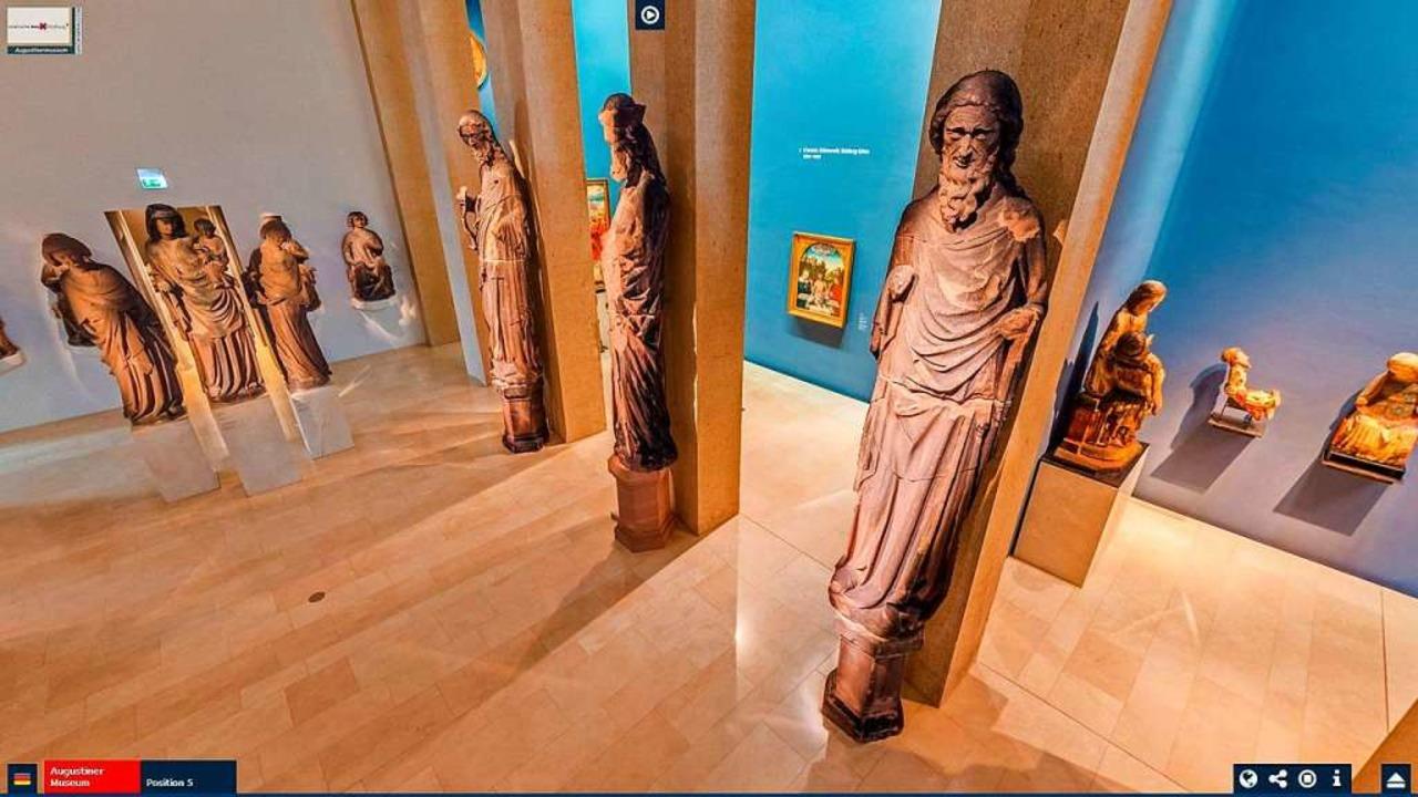 Virtuelle Rundgänge in 3D bieten viele... hier das Freiburger Augustinermuseum.  | Foto: Screenshot René Zipperlen