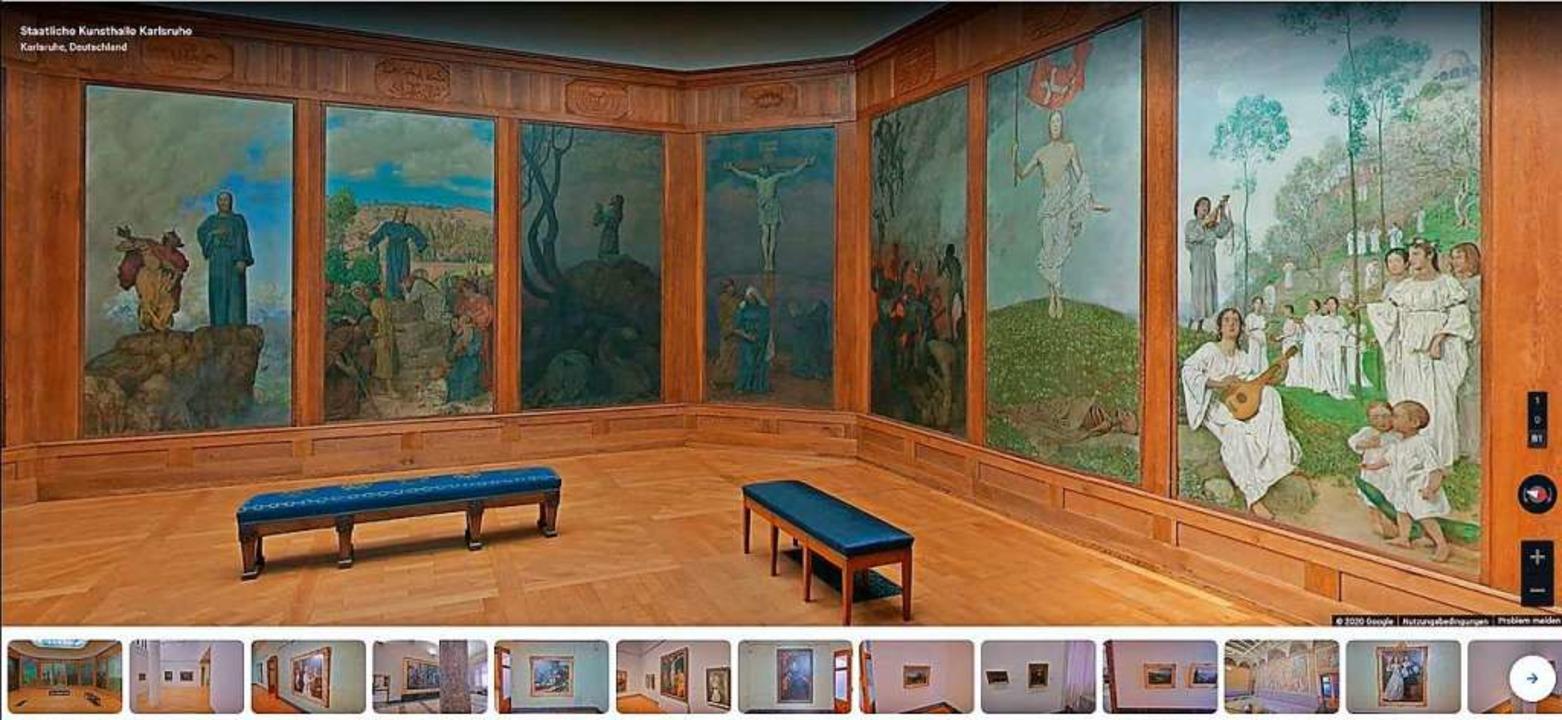 Über Googles gewaltige Kunstplattform ...d viele andere vom Sofa aus erkundbar.  | Foto: Screenshot/Augustinermuseum