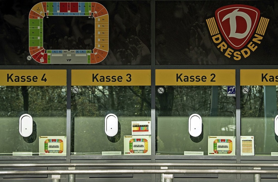 Weil Einnahmen wegbrechen, setzt auch Zweitligist Dynamo Dresden auf Kurzarbeit.    Foto: Robert Michael (dpa)
