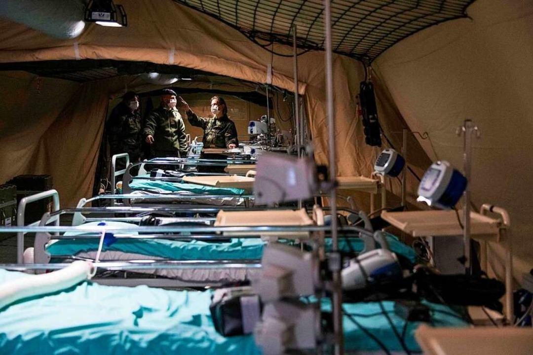 Das Feldlazarett der Armee ist vorbereitet  | Foto: SEBASTIEN BOZON (AFP)