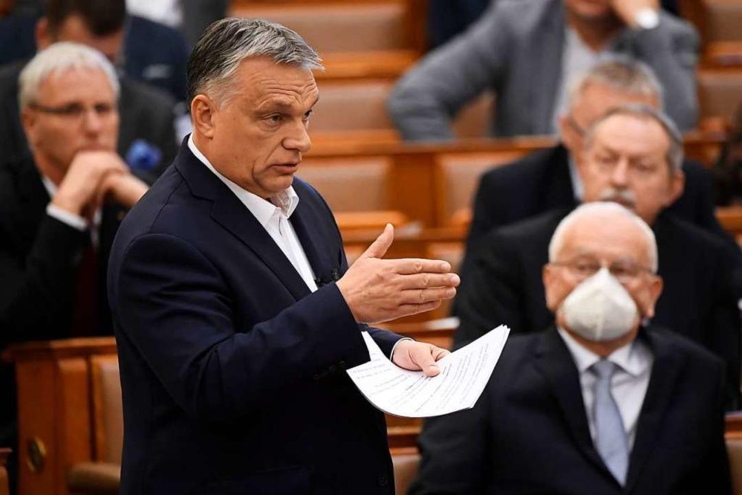 Viktor Orban, Ministerpräsident  Ungar...vorerst nicht mehr gebraucht werden.    | Foto: Tamas Kovacs (dpa)