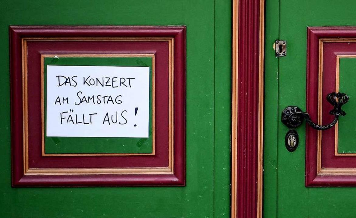 Auch in der Ortenau müssen Veranstalter Konzerte absagen.  | Foto: Britta Pedersen (dpa)