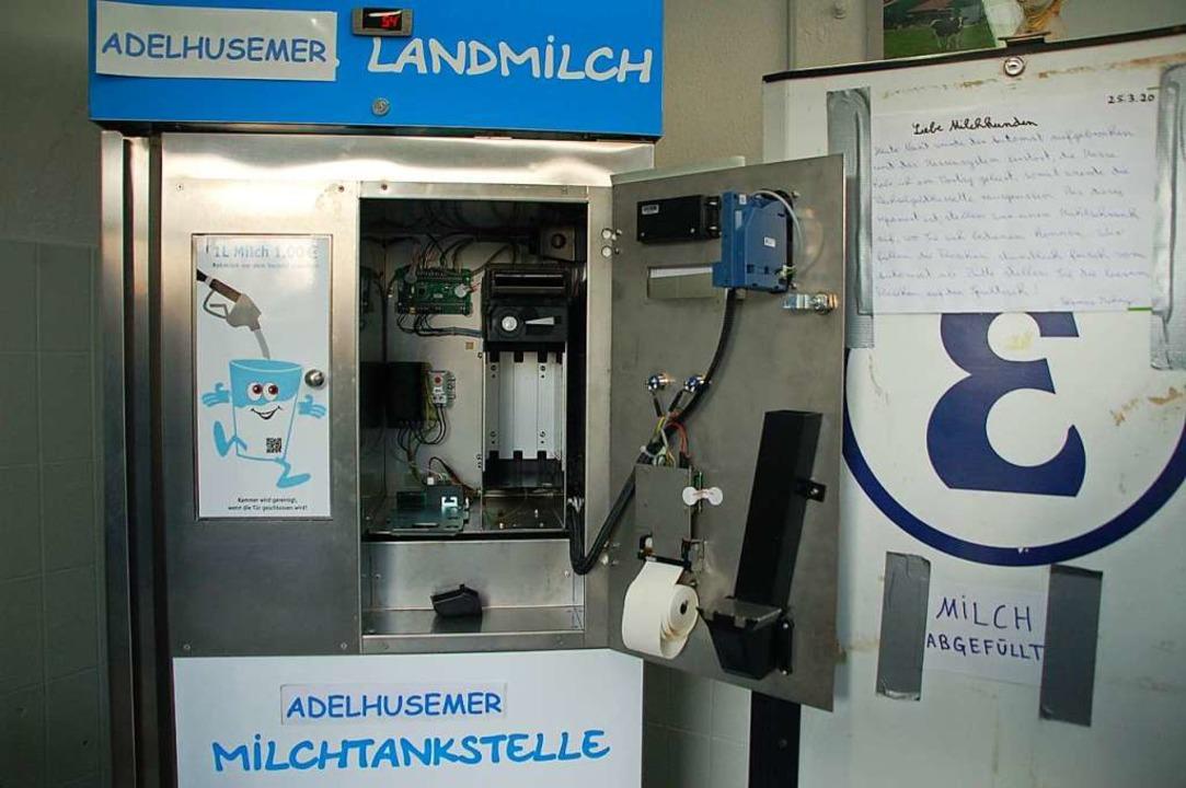Der Schaden am Automat beläuft sich auf rund 2400 Euro.  | Foto: Petra Wunderle