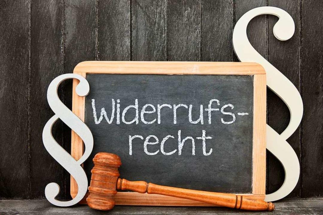 Widerruf ist in vielen Fällen weiter m...r Europäische Gerichtshof entschieden.  | Foto: Robert Kneschke (dpa)