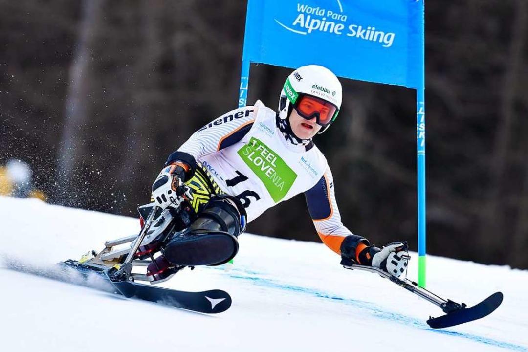 Im vorzeitig zu Ende gegangenen Rennwi... Anna-Lena Forster den Slalom-Weltcup.  | Foto: Luc Percival
