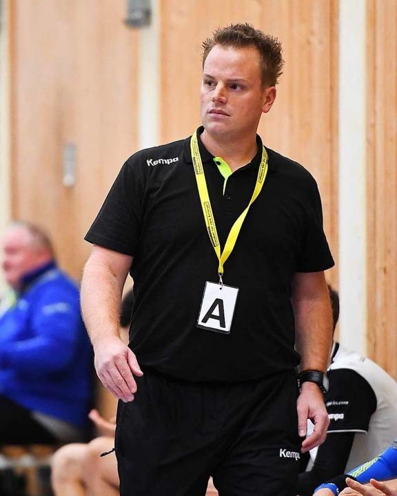 Führte die HU Freiburg mit großem Vors...andball-Landesliga: Trainer Jonas Eble  | Foto: Achim Keller
