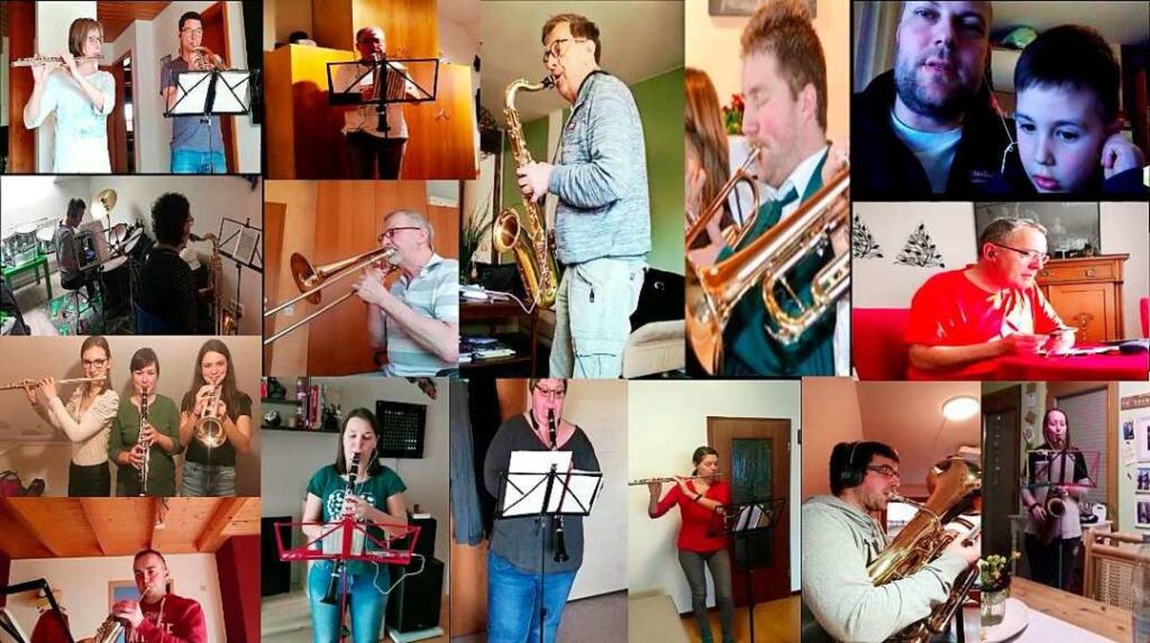 """Allein musizieren, gemeinsam im Video:...men für """"Hoch Badnerland"""".    Foto: privat"""