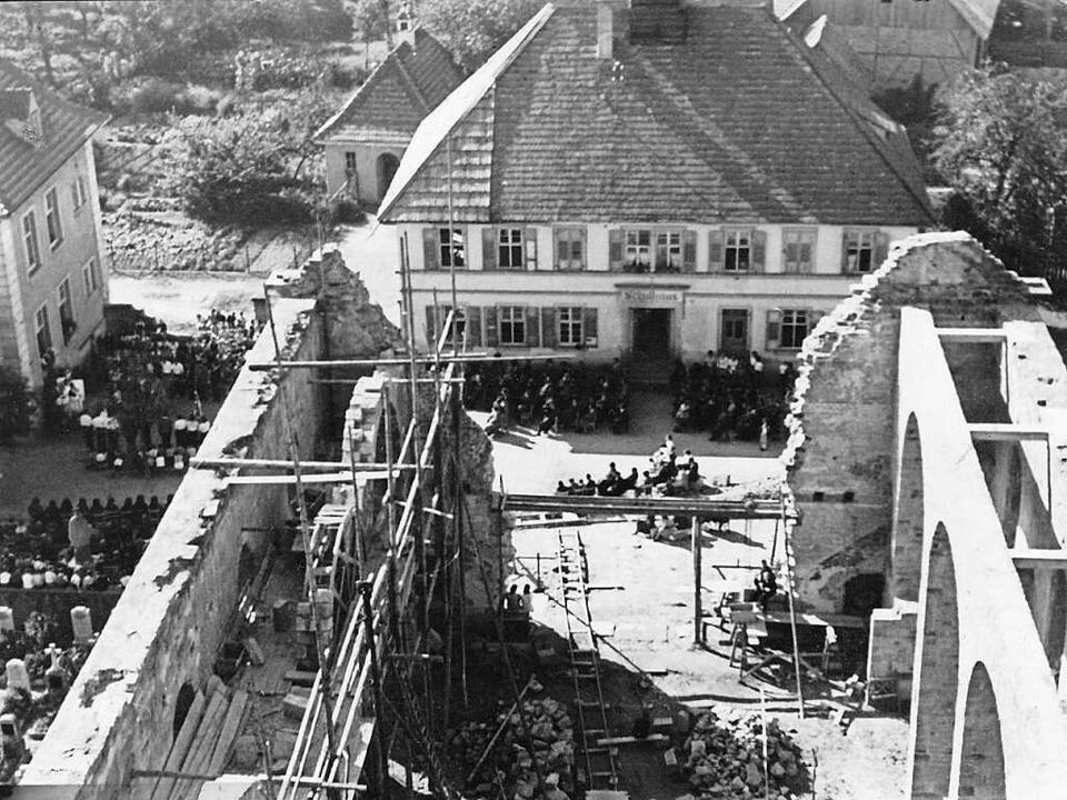 Kappel wurde durch Fliegerangriffe im Zweiten Weltkrieg zerstört.   | Foto: Frank Erny