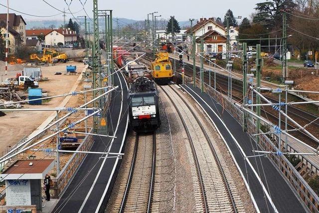 Ab Ostern soll die Bahn zwischen Weil und Haltingen leiser werden