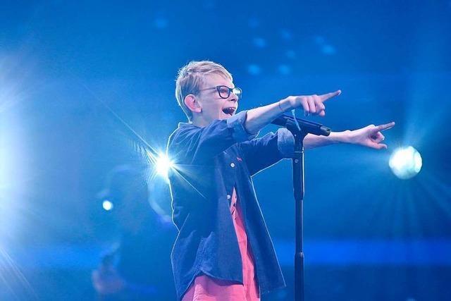 Der Freiburger Mats Kriegel tritt am Sonntag bei The Voice Kids auf