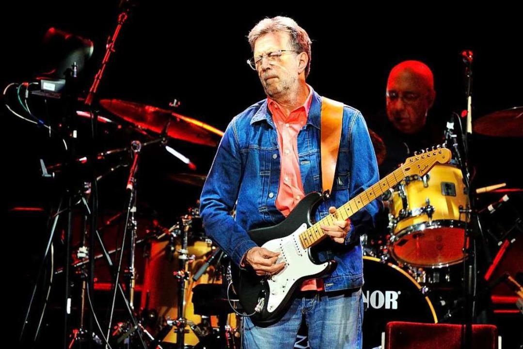 Eric Clapton beim Auftritt in Mannheim 2014  | Foto: Uwe Anspach (dpa)