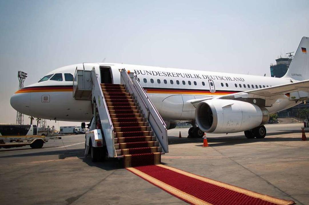 Regierungsflieger waren tatsächlich in...A – aber ohne Politiker an Bord.  | Foto: Michael Kappeler
