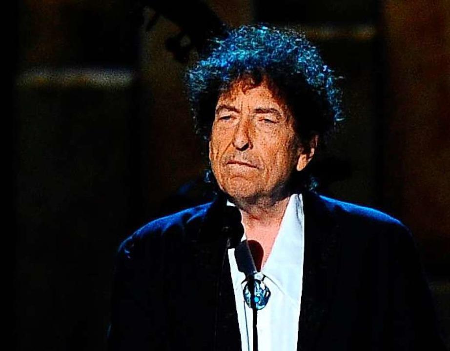 Nach acht Jahren, in denen Dylan eine ...en eigenen Song. Er dauert 17 Minuten.    Foto: Vince Bucci (dpa)