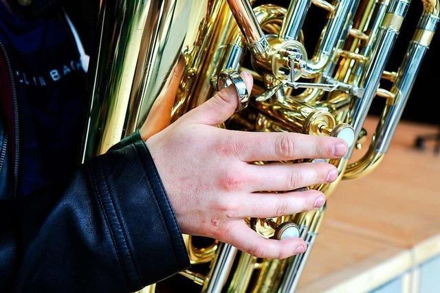 Fritz Steinbrunner freut sich über gemeinsames Musizieren trotz Corona