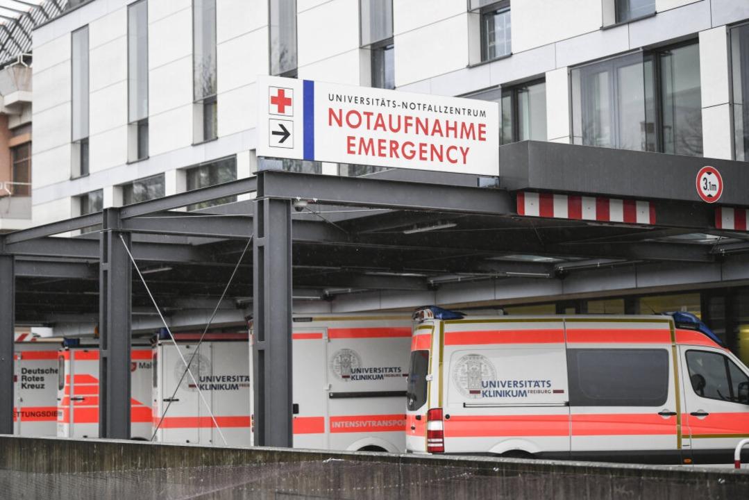 Krankenwagen stehen vor der Notaufnahm... Region rechnen mit viel, viel Arbeit.  | Foto: Patrick Seeger (dpa)