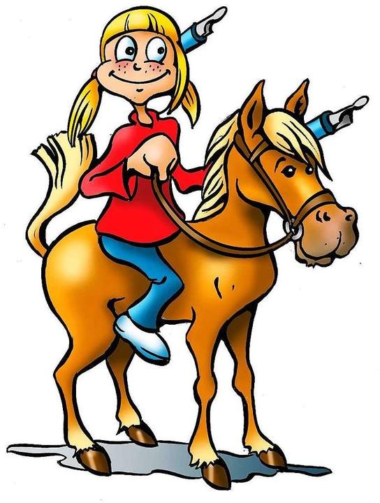Betti Z. konnte es nicht lassen und mu...r Pferde in der magischen Welt reiten.  | Foto: Ferdinando Terelle