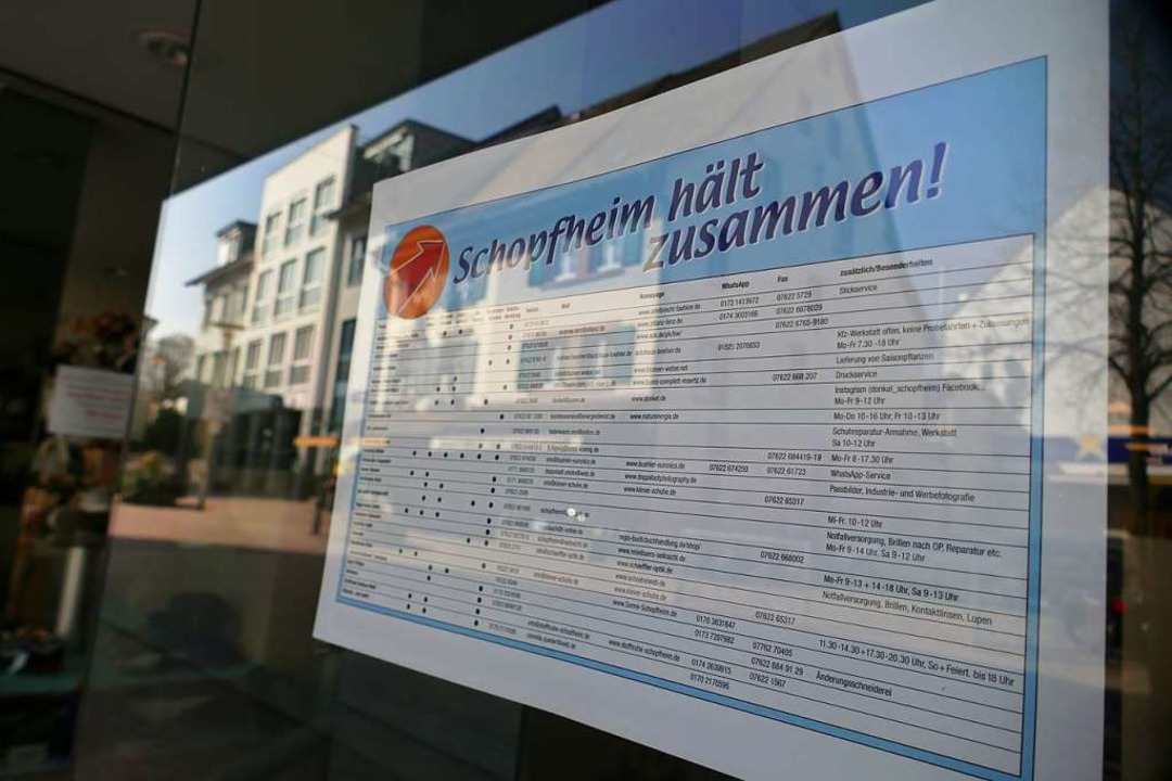 Zusammenhalt: Dazu rufen Schopfheimer ...ote in Corona-Krisenzeiten  auflistet.  | Foto: André Hönig